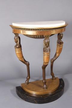 A Gustavian Giltwood Demilune Console Table Swedish ca 1800 - 97188