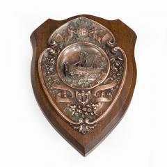 A HMS Victory centennial copper shield - 1840315