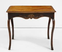 A Hammered Leather and Walnut Table - 2076466