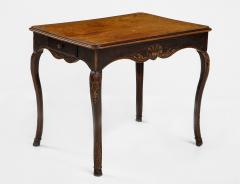 A Hammered Leather and Walnut Table - 2076467