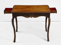 A Hammered Leather and Walnut Table - 2076468