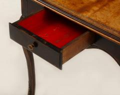 A Hammered Leather and Walnut Table - 2076472
