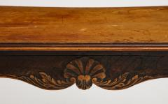 A Hammered Leather and Walnut Table - 2076474