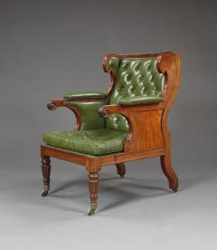 A Handsome Regency Mahogany Winged Library Chair - 1066997