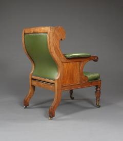 A Handsome Regency Mahogany Winged Library Chair - 1067004