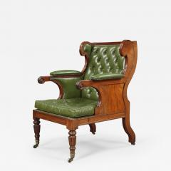 A Handsome Regency Mahogany Winged Library Chair - 1067378