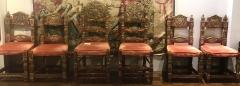 A Harlequin Set of 8 Spanish Colonial chairs - 1592839
