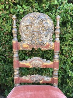 A Harlequin Set of 8 Spanish Colonial chairs - 1592841