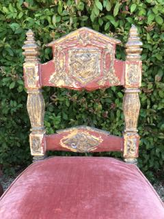 A Harlequin Set of 8 Spanish Colonial chairs - 1592843