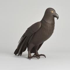 A Japanese Iron Okimono of a hawk - 1260081