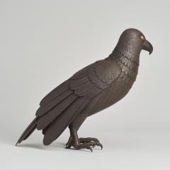 A Japanese Iron Okimono of a hawk - 1260082