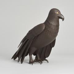 A Japanese Iron Okimono of a hawk - 1260083