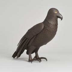 A Japanese Iron Okimono of a hawk - 1260084