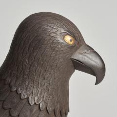 A Japanese Iron Okimono of a hawk - 1260085