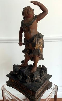 A Japanese Lacquered and Gilt Wood Statue from Edo Period - 935385