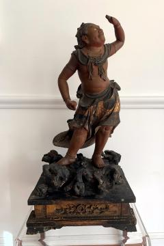 A Japanese Lacquered and Gilt Wood Statue from Edo Period - 935386