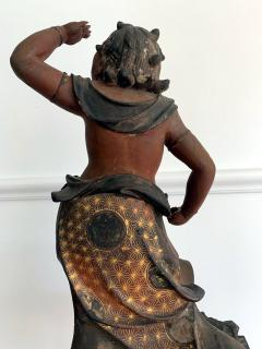 A Japanese Lacquered and Gilt Wood Statue from Edo Period - 935389