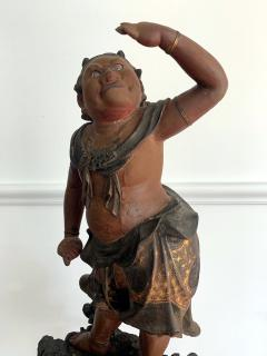 A Japanese Lacquered and Gilt Wood Statue from Edo Period - 935390