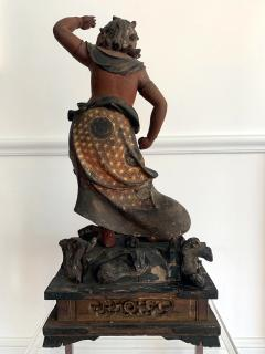 A Japanese Lacquered and Gilt Wood Statue from Edo Period - 935391
