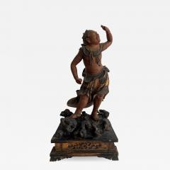 A Japanese Lacquered and Gilt Wood Statue from Edo Period - 938012