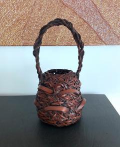 A Japanese Wagumi Style Bamboo Basket Ikebana - 988895