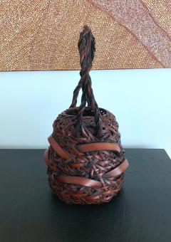 A Japanese Wagumi Style Bamboo Basket Ikebana - 988896