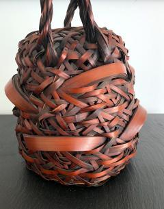A Japanese Wagumi Style Bamboo Basket Ikebana - 988897