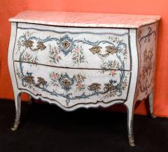 A Lacquered Wood Ligurian Commode with Rose Debrignoles Marble Top - 115487