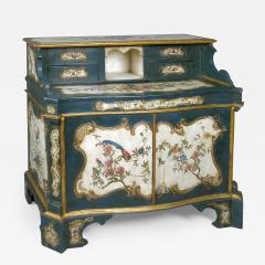 A Lacquered and Gilded Wood Cabinet and Desk - 115916