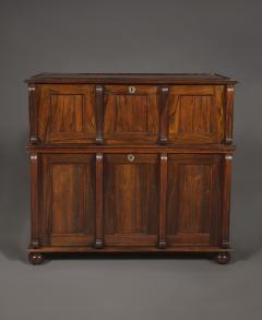 A Large Finely Figured Rosewood Collectors Cabinet Of Unusual Form - 1427068