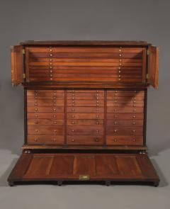 A Large Finely Figured Rosewood Collectors Cabinet Of Unusual Form - 1427070