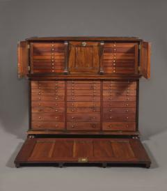 A Large Finely Figured Rosewood Collectors Cabinet Of Unusual Form - 1427071