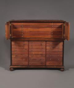 A Large Finely Figured Rosewood Collectors Cabinet Of Unusual Form - 1427072