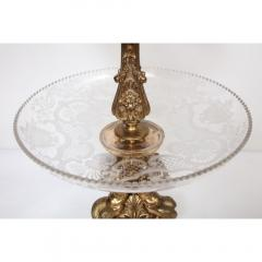 A Large French Silvered Bronze Cut Crystal Allegorical Three Tier Centerpiece - 1110945