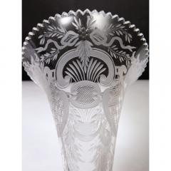 A Large French Silvered Bronze Cut Crystal Allegorical Three Tier Centerpiece - 1110954