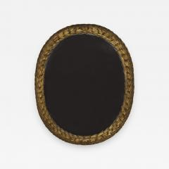 A Large Oval Giltwood Mirror Carved With Bulrush And Textured Grotto Decoration - 511643
