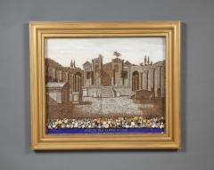 A Large Pair Of Shellwork Pictures Representing Ruins - 1014584
