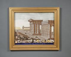 A Large Pair Of Shellwork Pictures Representing Ruins - 1014589