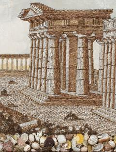 A Large Pair Of Shellwork Pictures Representing Ruins - 1014595