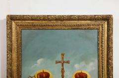 A Large Russian Oil on Canvas Painting of Two Bishops - 2128690