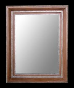 A Large Scaled English Pickled Beechwood and Silver Gilt Cushion Mirror - 568309