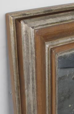 A Large Scaled English Pickled Beechwood and Silver Gilt Cushion Mirror - 568311