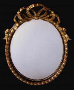 A Large Scaled Napoleon III Carved Oval Mirror - 334809