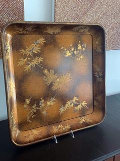 A Large Vintage Japanese Maki e Lacquer Kimono Tray - 1006559