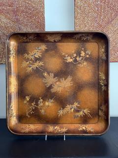 A Large Vintage Japanese Maki e Lacquer Kimono Tray - 1006561