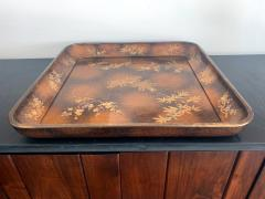 A Large Vintage Japanese Maki e Lacquer Kimono Tray - 1006562