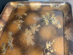 A Large Vintage Japanese Maki e Lacquer Kimono Tray - 1006563