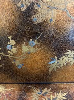 A Large Vintage Japanese Maki e Lacquer Kimono Tray - 1006566