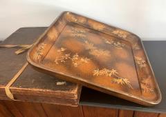 A Large Vintage Japanese Maki e Lacquer Kimono Tray - 1006569