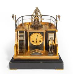 A Late 19th century French novelty quarterdeck mantel clock by Guilmet Paris - 1665482